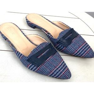 J.Crew Plaid Pointed Slip On Flats Size 9